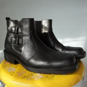 Kenneth Cole Reaction Black Buckle Chelsea Boots